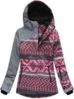 Kvalitně zateplená dámská zimní bunda s výrazným vzorem