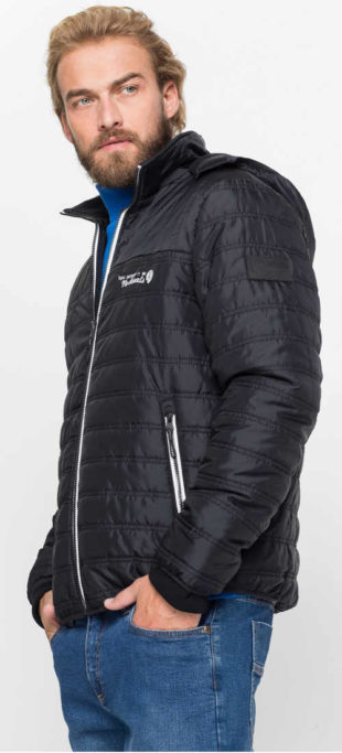 Pánská zimní bunda s módním prošitím