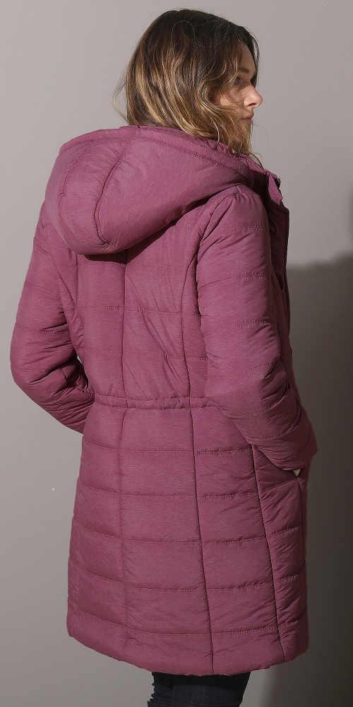 Prodloužená zimní bunda pro plnoštíhlé