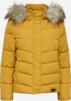 Zimní bunda JACQUELINE de YONG KAMMI - zlatě žlutá