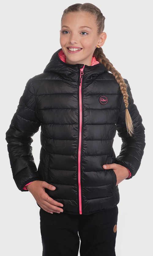 Zlevněná holčičí černá zimní bunda SAM 73