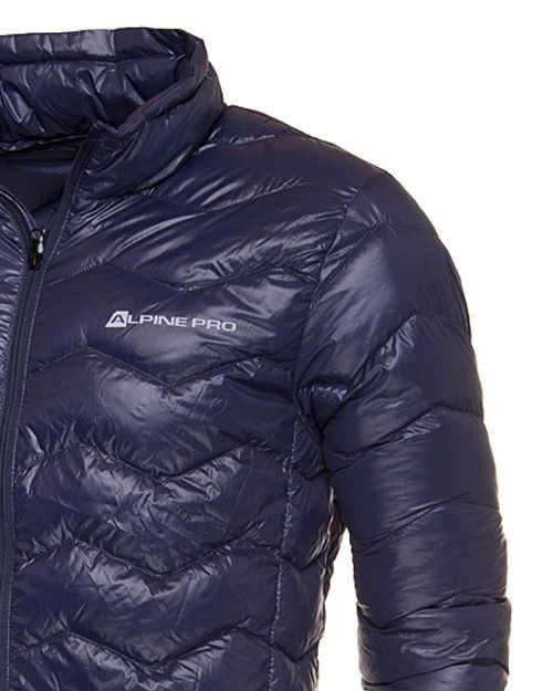Alpine Pro modrá pánská prošívaná bunda bez kapuce