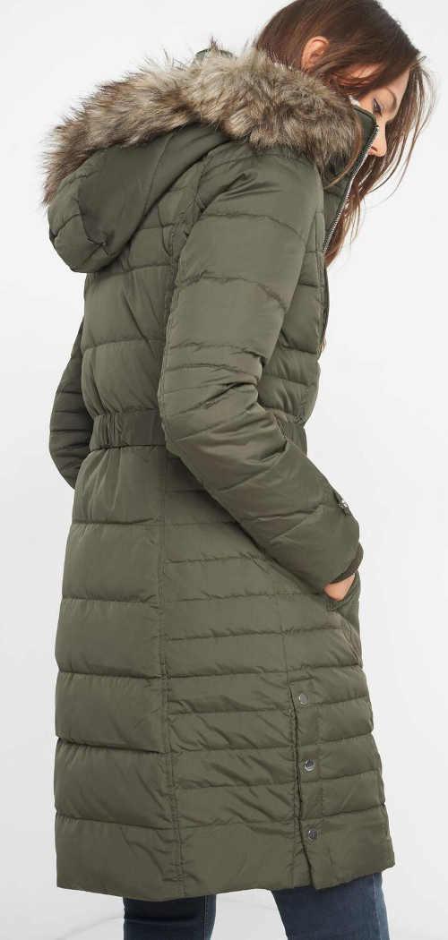 Dlouhá péřová dámská zimní bunda