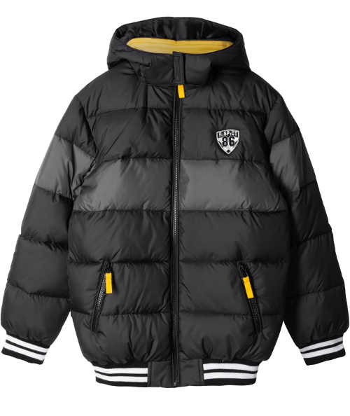Prošívaná dětská zimní bunda Bonprix černé barvy