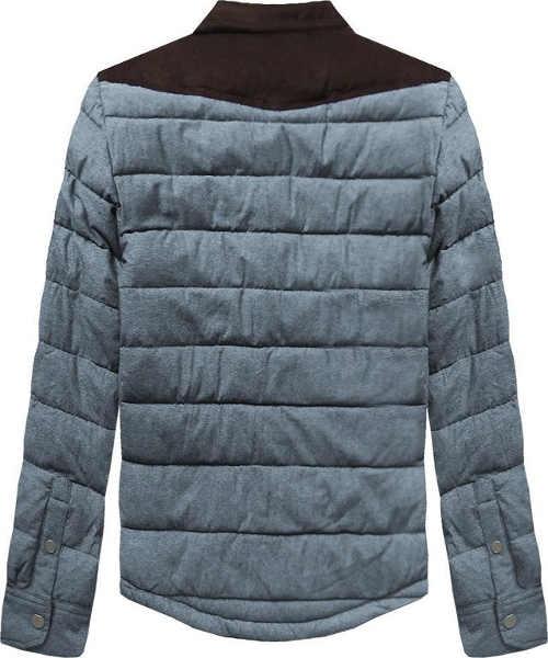 Prošívaná pánská bunda s vyšším límcem