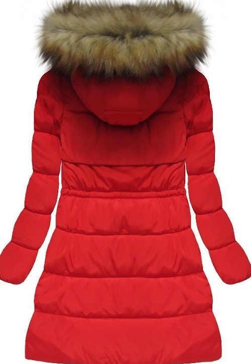 Zateplená zimní bunda pro plnoštíhlé lehce  vypasovaného střihu