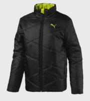 Černá chlapecká zimní bunda s logem Puma