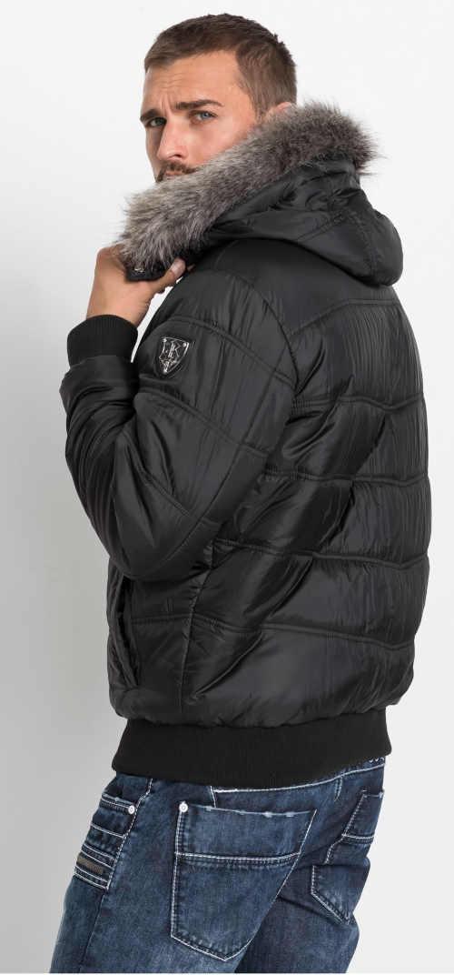 Černá zimní bunda pro moderního muže