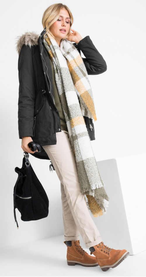 Černá zimní bunda pro ženu každého věku