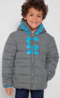 Chlapecká zimní bunda s prošitím a kapucí