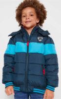 Dětská pruhovaná zimní bomber bunda