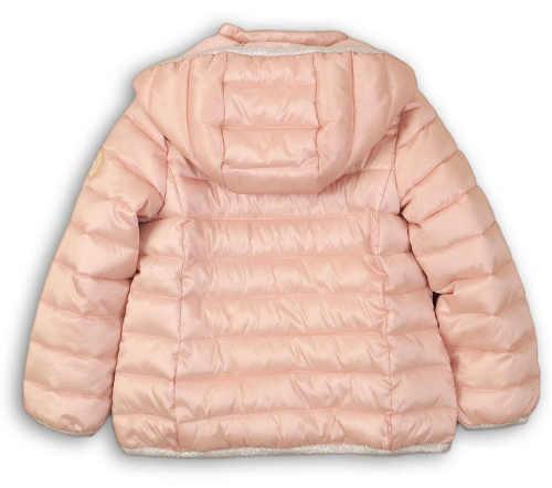Kojenecká prošívaná zimní bundsa pro holčičku s kapucí