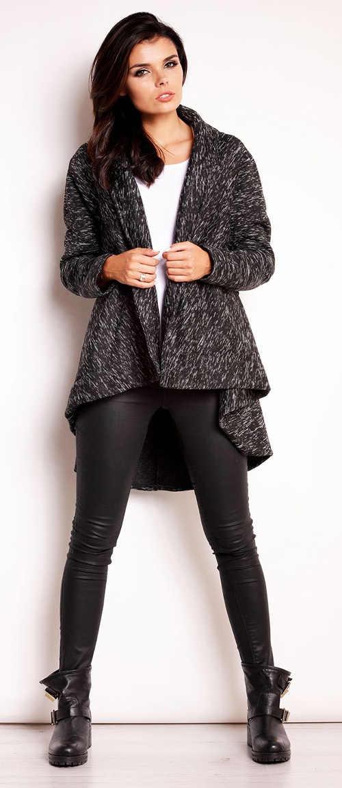 Krátký dámský kabát k leginám