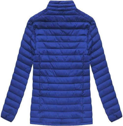 Lehká modrá prošívaná pánská zimní bunda