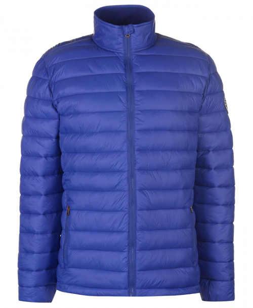 Modrá pánská zimní bunda s vyšším stojáčkem