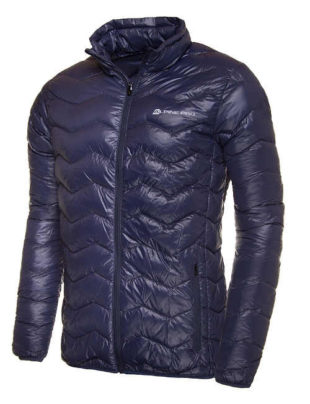 Modrá ultralehká pánská zimní bunda Alpine Pro