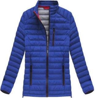 Pánská prošívaná přechodová modrofialová bunda