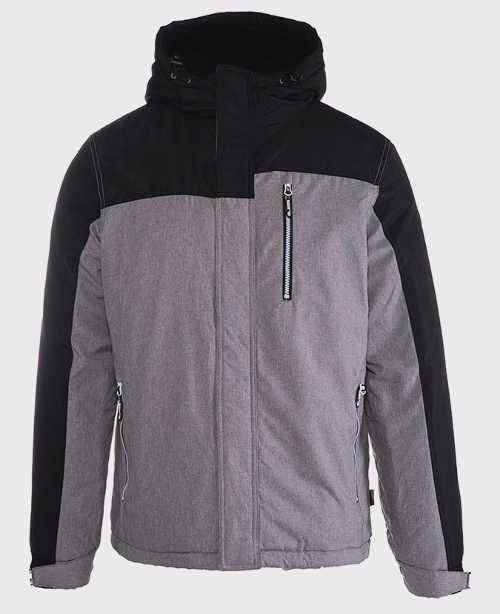 Pánská zimní bunda s náprsní kapsou na zip