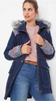Riflová dámská zimní bunda