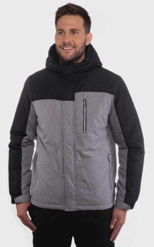 Šedo-černá pánská bunda do mrazivého počasí