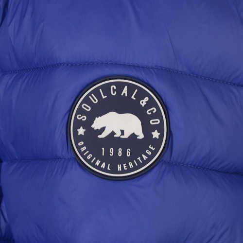 Světle modrá pánská zimní bunda SoulCal