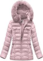 Světle růžová bunda zateplená velmi kvalitní syntetickou péřovou výplní