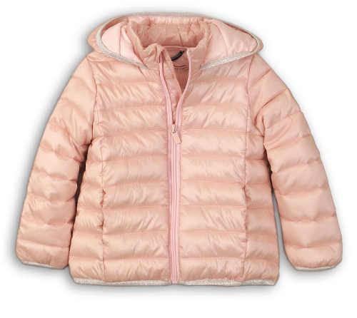 Světle růžová kojenecká zimní bunda