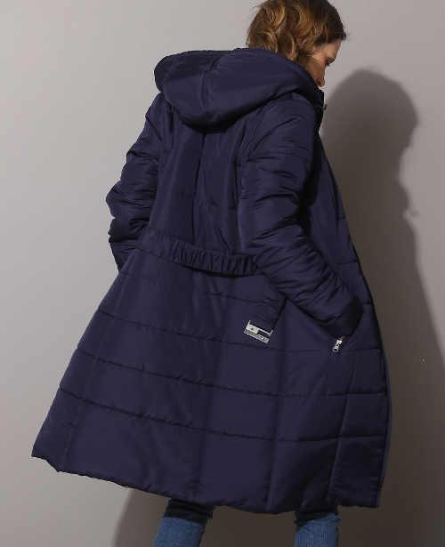 Zimní bunda s délkou ke kolenům
