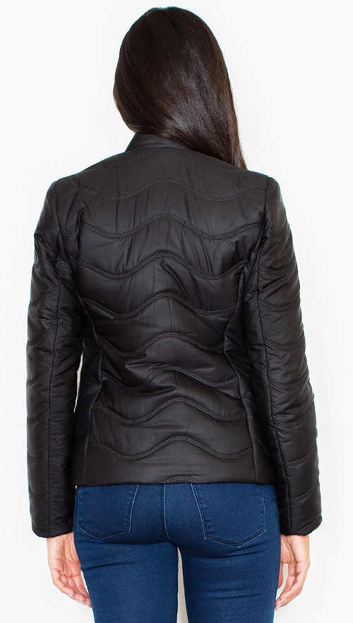 Elegantní dámská bunda  asymetrického střihu
