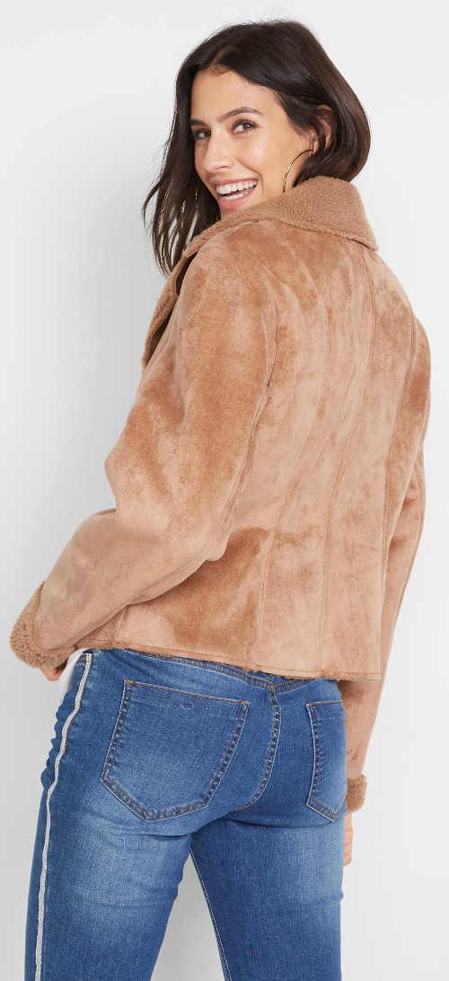 Kožená dámská zimní bunda Bonprix