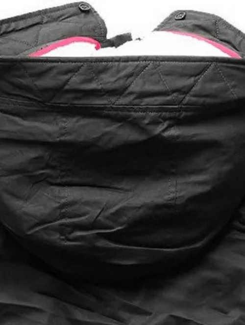 Černá bunda s odnímatelnou zateplenou kapucí