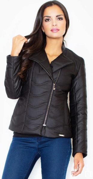 Černá přechodová dámská bunda