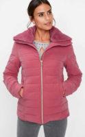 Dámská zimní bunda se stojáčkem a kožešinovým límcem
