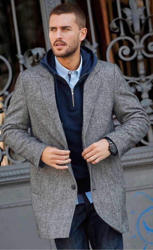 Elegantní pánský kabát