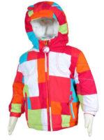Kostkovaná dívčí zimní bunda Bugga