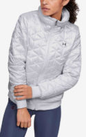 Lehčí dámská prošívaná bunda na zip ve fitted střihu
