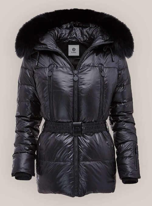 Luxusní dámská zimní bunda Kara černé barvy