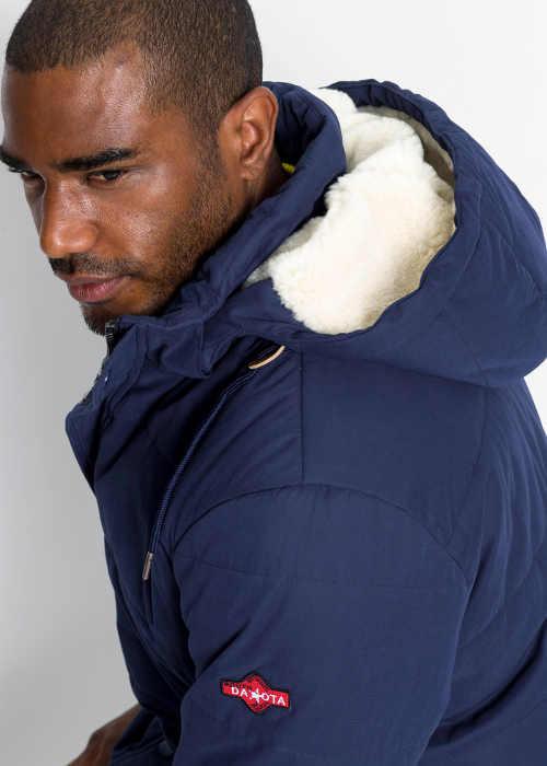 Pánská zimní bunda se zateplenou kapucí