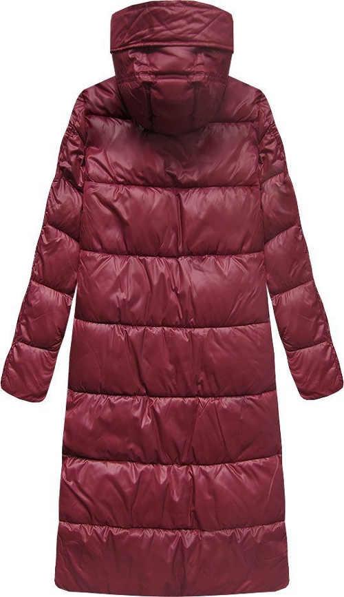 Prošívaná dámská zimní bunda s délkou pod kolena