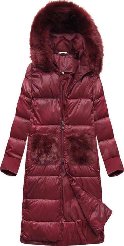 Velmi teplá delší zimní bunda s péřovou výplní