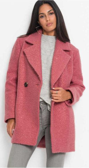 Vlněný dámský zimní kabát kratší délky