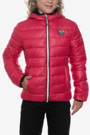 Zlevněná červená holčičí zimní bunda