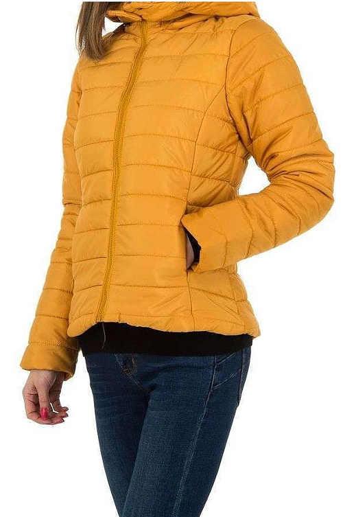 Kanárkově žlutá dámská zimní bunda