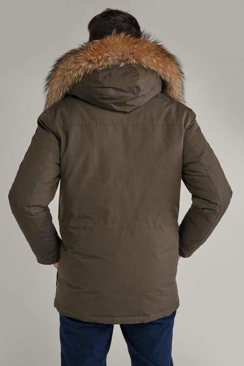 Pánská zimní bunda s pravou kožešinou