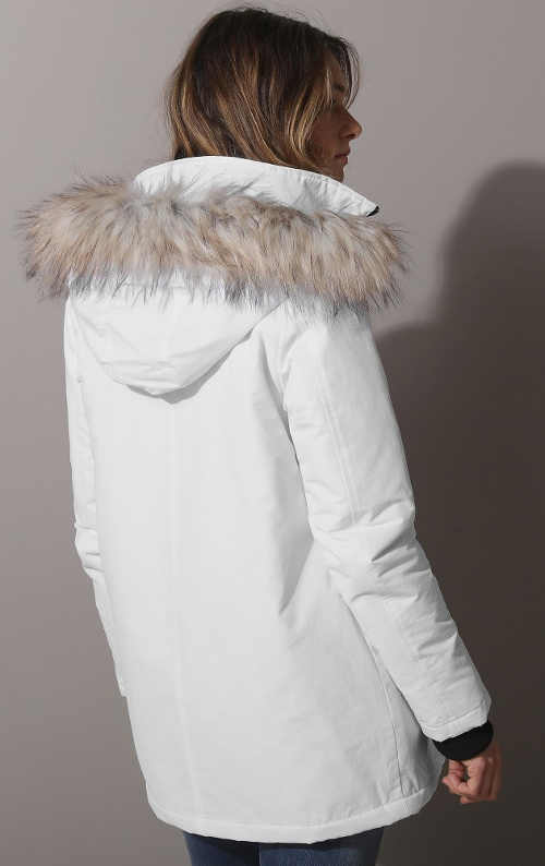 Bílá dámská lyžařská bunda