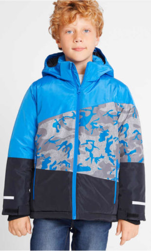 Chlapecká nepromokavá prodyšná lyžařská bunda