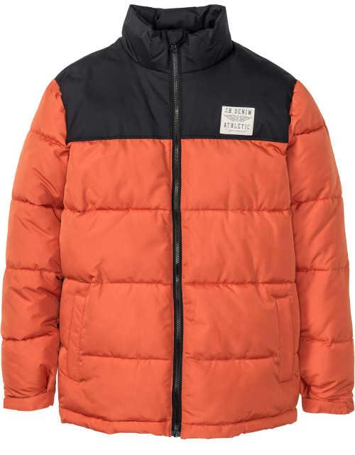 Oranžová pánská zimní bunda