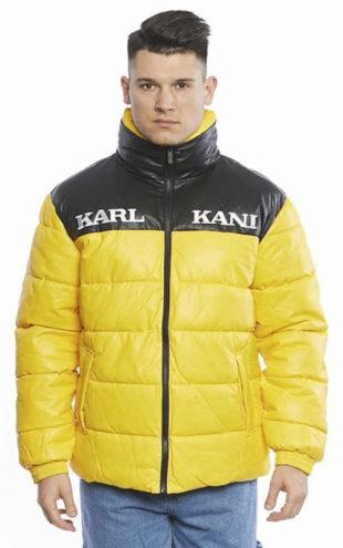 Pánská žlutočerná bunda Karl Kani