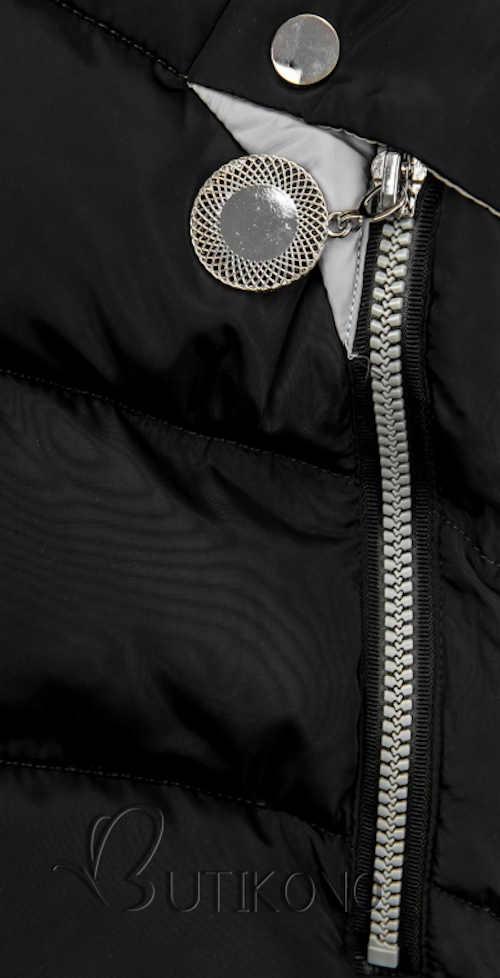 Moderní dámská zimní bunda s velkou kapucí