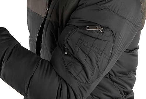 Pánská zimní bunda s kapsou na rukávu